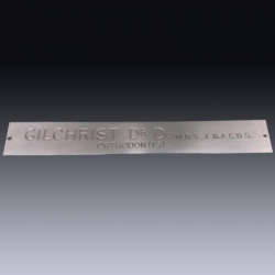 Stainless Steel Engraved