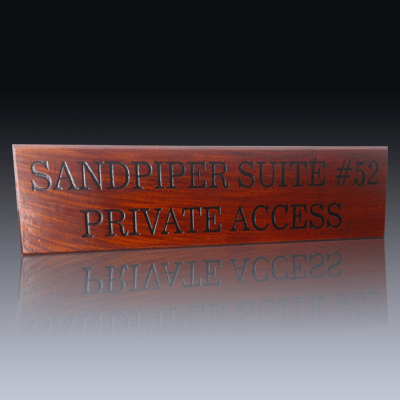 Engraved Timber Product