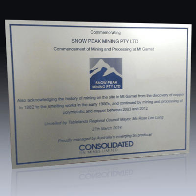 Opening Plaques Product